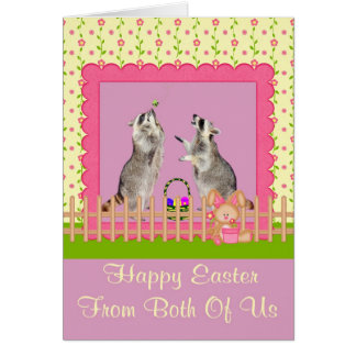 Pascua nosotros dos tarjeta de felicitación