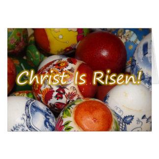 Pascua ortodoxa/Pascha Cristo es tarjeta subida