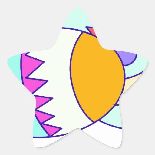 pascua pegatina en forma de estrella