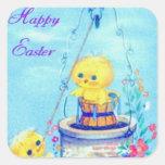 Pascua Pegatinas Cuadradases Personalizadas