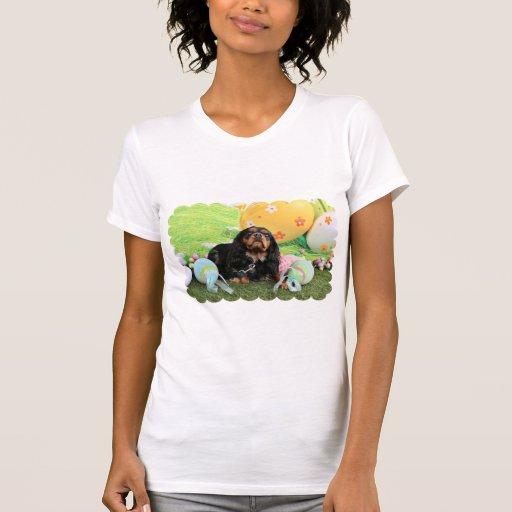 Pascua - perro de aguas de rey Charles arrogante - Camisetas