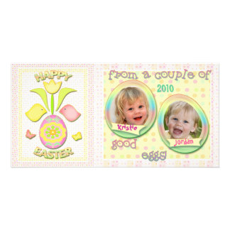 Pascua personalizó la tarjeta de la foto tarjetas fotograficas