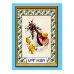 Pascua - polluelos de la mandolina y del éster postal