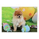 Pascua - Pomeranian - Dexter Felicitacion