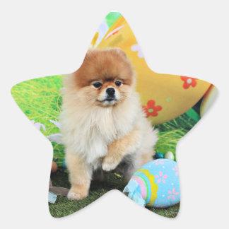 Pascua - Pomeranian - Dexter Calcomanías Forma De Estrellaes