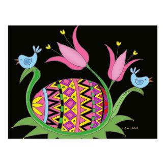 Pascua que bendice arte popular ucraniano postales