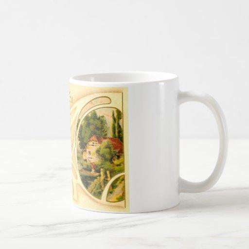 Pascua religiosa con la cruz y la ilustración taza de café