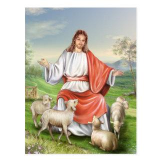 Pascua religiosa, Jesús con las ovejas. Pascua Postales