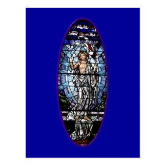 Pascua: Resurrección del vitral de Cristo Postales
