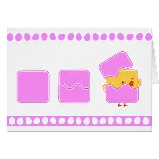 Pascua rosada tarjeta de felicitación