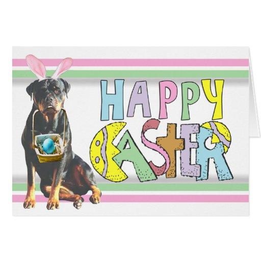 Pascua Rottweiler Tarjeta Pequeña