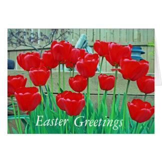Pascua, saludos tarjeta de felicitación