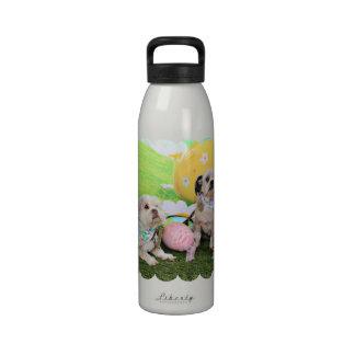 Pascua - Shih Tzu - clementina y Winston Botellas De Agua Reutilizables