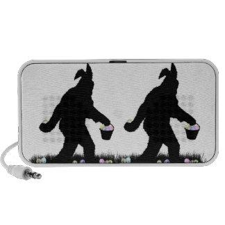 Pascua Squatch con los oídos del conejito Laptop Altavoces