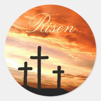 Pascua subida pegatina redonda
