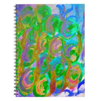 Pascua subió productos florales y coloridos del libreta espiral