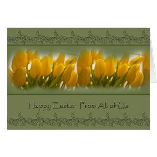 Pascua - todos nosotros tarjeta de felicitación