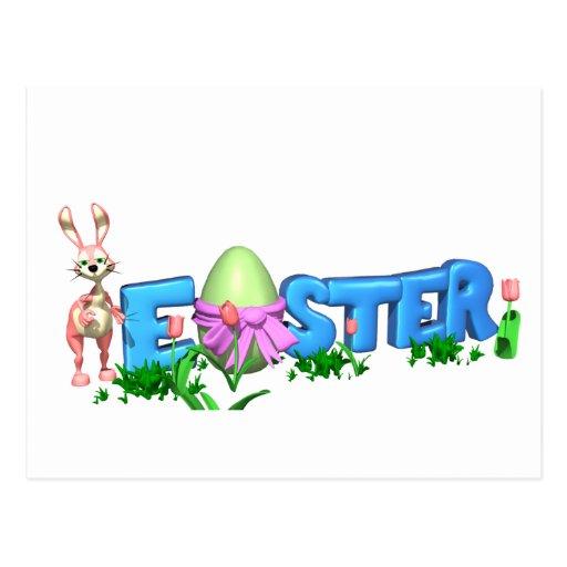Pascua y conejito tarjetas postales
