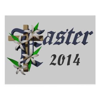 Pascua y lirios - tarjetas postales
