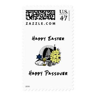 Pascua y Passover interconfesionales felices Sellos