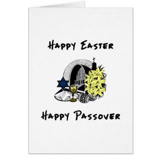 Pascua y Passover interconfesionales felices Tarjeta De Felicitación