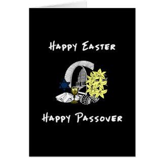 Pascua y Passover interconfesionales felices Tarjeta Pequeña