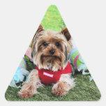 Pascua - Yorkshire Terrier - descarados Colcomanias De Triangulo Personalizadas