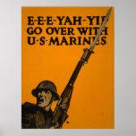 Pase con los infantes de marina de los E.E.U.U. Poster