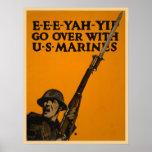 Pase con los infantes de marina de los E.E.U.U. Impresiones