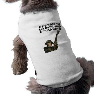Pase con los infantes de marina de los E.E.U.U. -- Playera Sin Mangas Para Perro