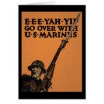 Pase con los infantes de marina de los E.E.U.U. Felicitación