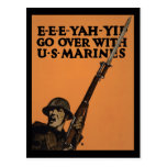 Pase con los infantes de marina de los E.E.U.U. Tarjeta Postal