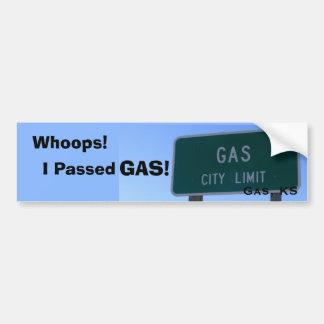Pasé el gas pegatina para auto