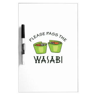 PASE EL WASABI TABLEROS BLANCOS