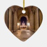 Pase en Louvre al puente de artes en París Ornamento Para Arbol De Navidad