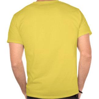 Pase encendido el lado izquierdo camisetas