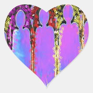 Pase encendido el monumento - añada la gratitud de pegatina en forma de corazón