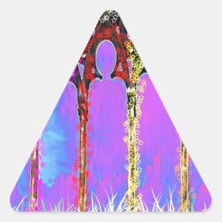 Pase encendido el monumento - añada la gratitud de calcomanía de trianguladas