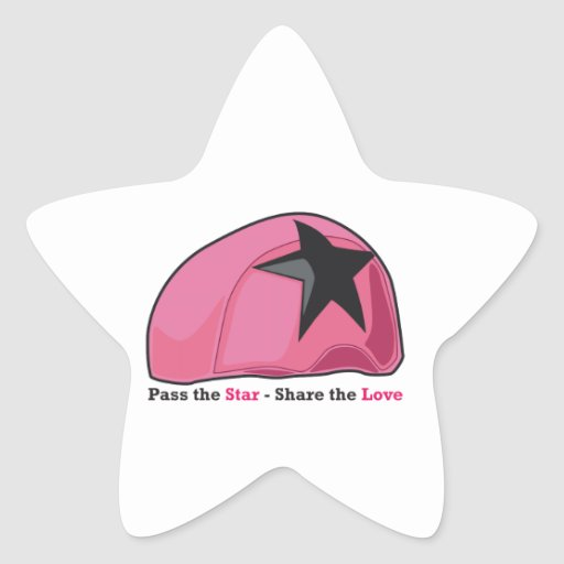 Pase la parte de la estrella el amor colcomanias forma de estrella personalizadas