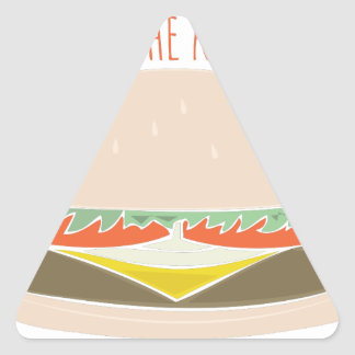 Pase la salsa de tomate pegatina de triangulo