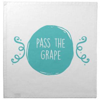Pase la uva servilletas de papel