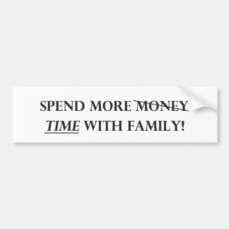 Pase más tiempo con Family.pdf Pegatina Para Auto