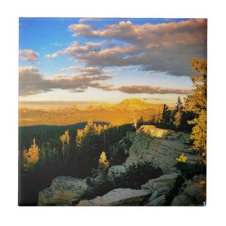 Pase por alto el paisaje, escena de la montaña azulejo cuadrado pequeño