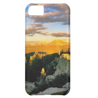 Pase por alto el paisaje, escena de la montaña funda para iPhone 5C