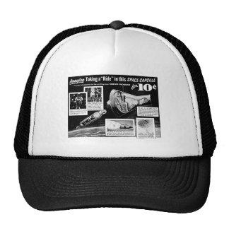 Paseo 10¢ de la cápsula de espacio del anuncio del gorras