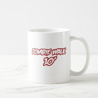 Paseo 10' del zombi taza básica blanca