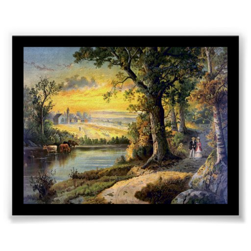 Paseo 1880 de los amantes impresiones