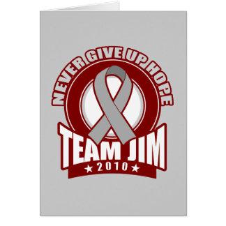 Paseo 2010 del cáncer de cerebro de Jim del equipo Tarjetón