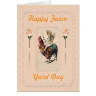 Paseo 2 del gallo del vintage tarjeta de felicitación