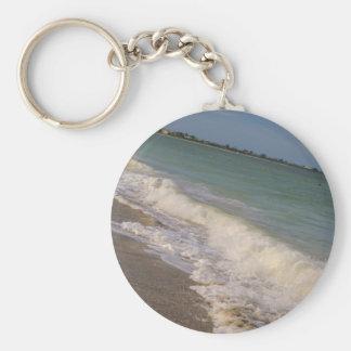 Paseo a lo largo de la playa del St Pete Llavero Redondo Tipo Pin